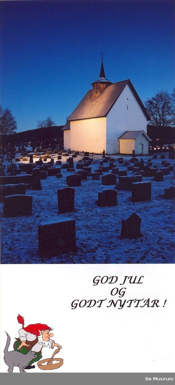 Bø gamle kyrkje - julekort