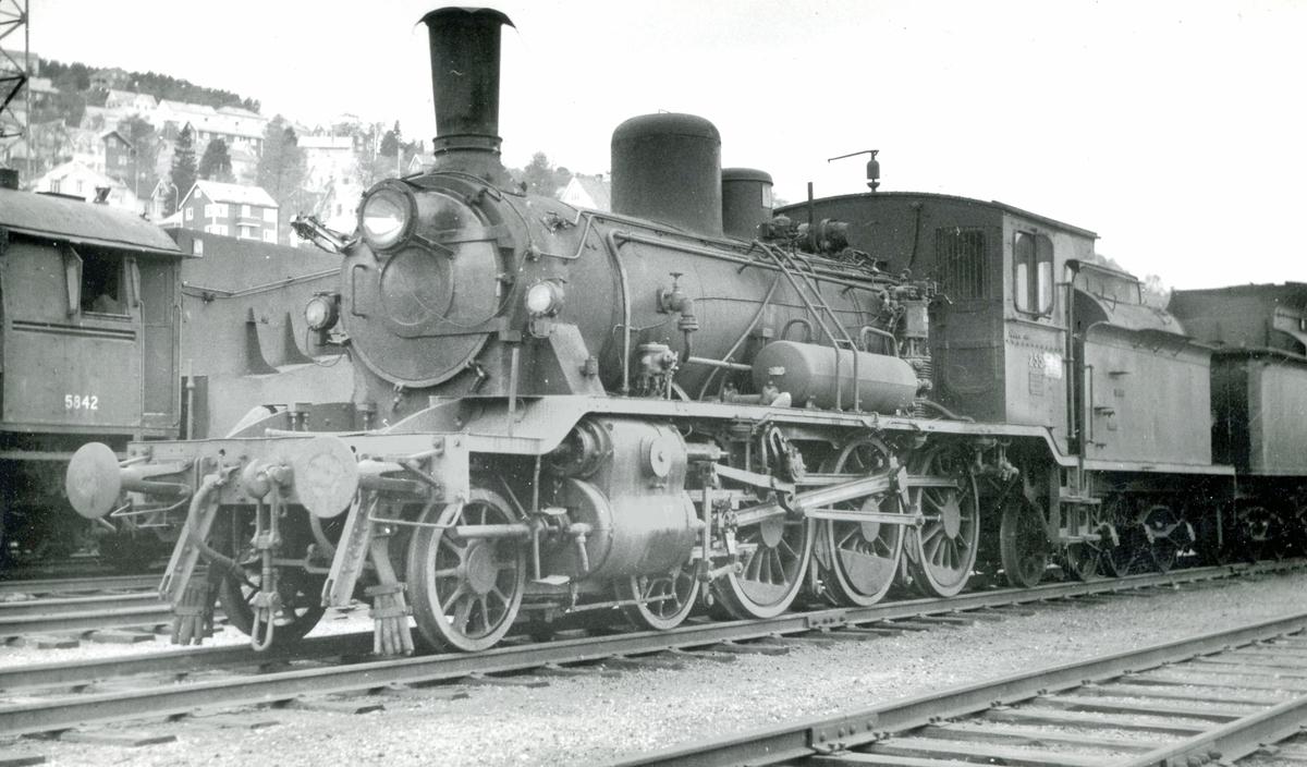 Damplok 18c 255 hensatt på NSBs verksted Marienborg i Trondheim.