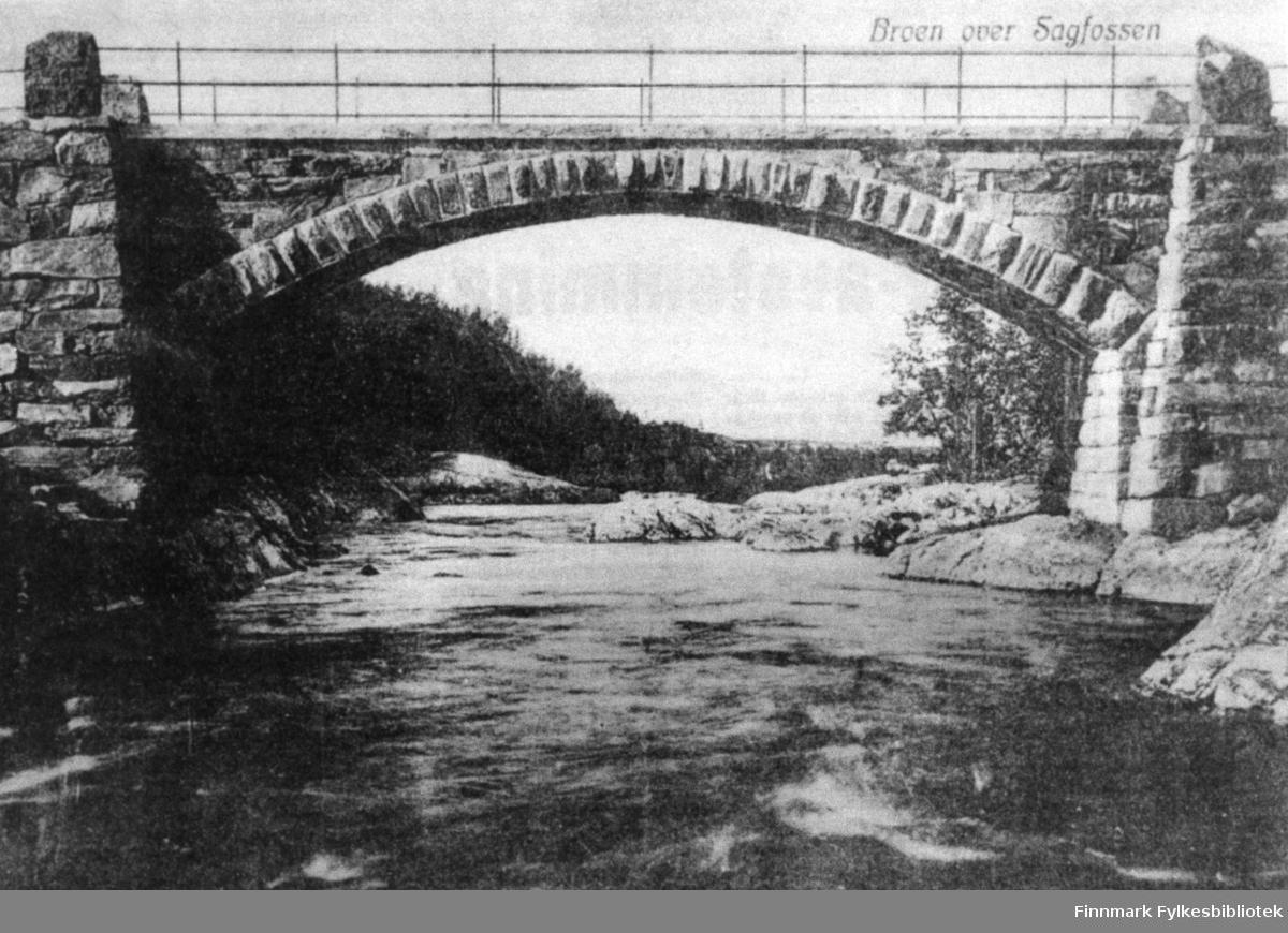 Saga bro, bygget ca 1902. Oppsynsmannen var Peder Østlyngen.