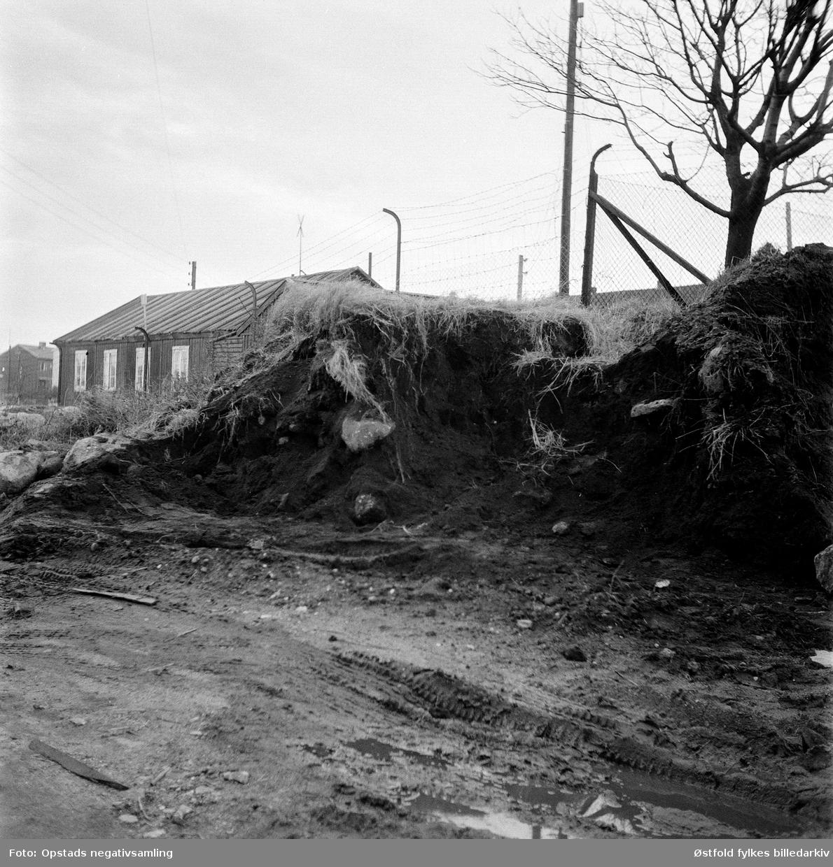 Utgraving i Olavsvollen, Sarpsborg, ant. 1958.