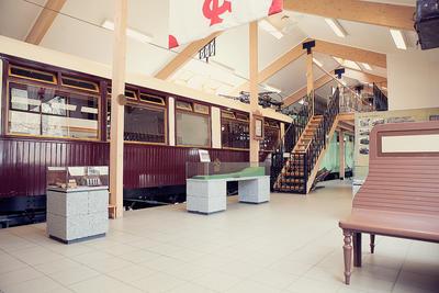 I utstillingene til Thamshavnbanen står blant annet Kongevognen som en del av de faste utstillingene.. Foto/Photo