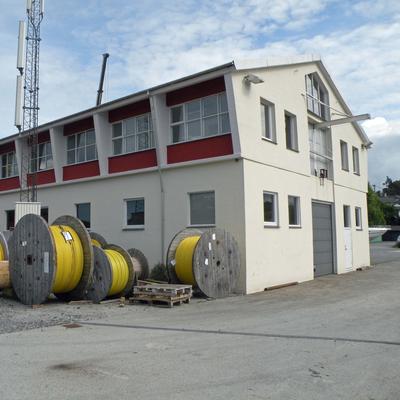 Lager  med kabeltromler. Foto/Photo