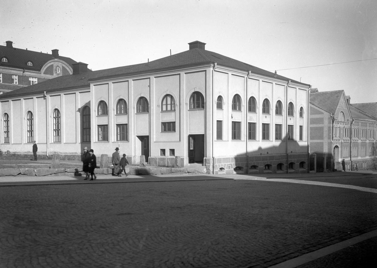 Läroverkets gymnastiksal år 1933.