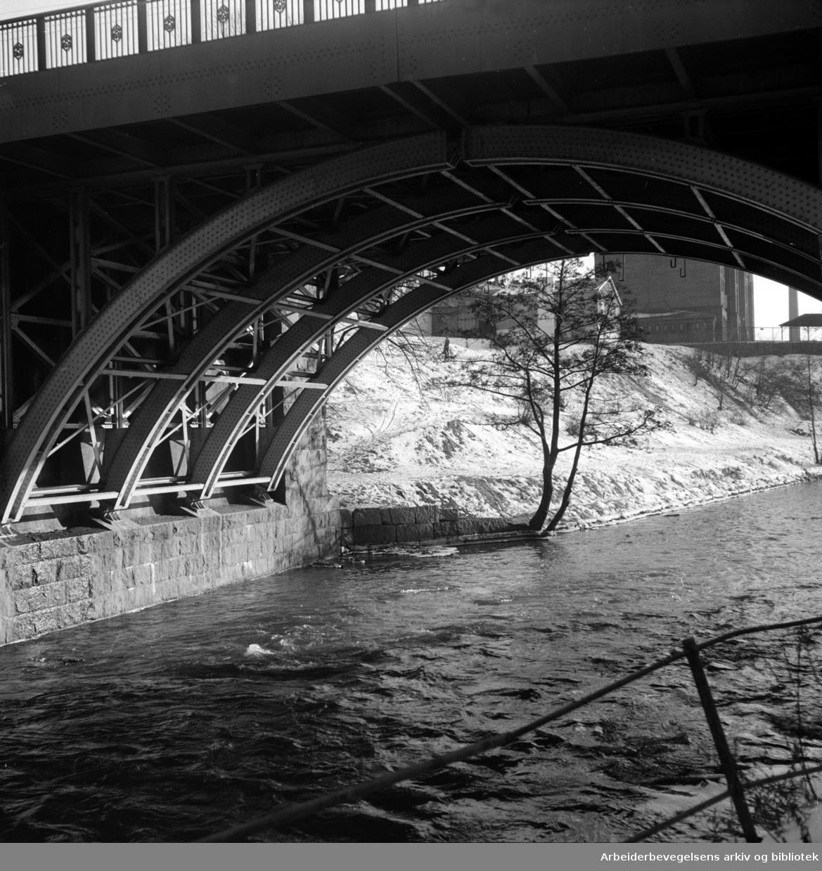 Sannerbrua. Mars 1955