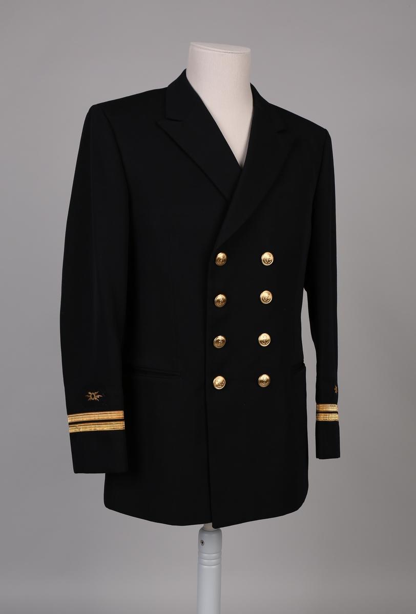 Uniformsjakke, del av telegrafist-uniform type telegrafist T-2 07-18.