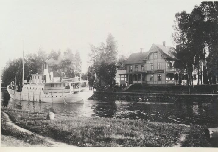 Pålsboda järnvägsstation i början av 1900-talet