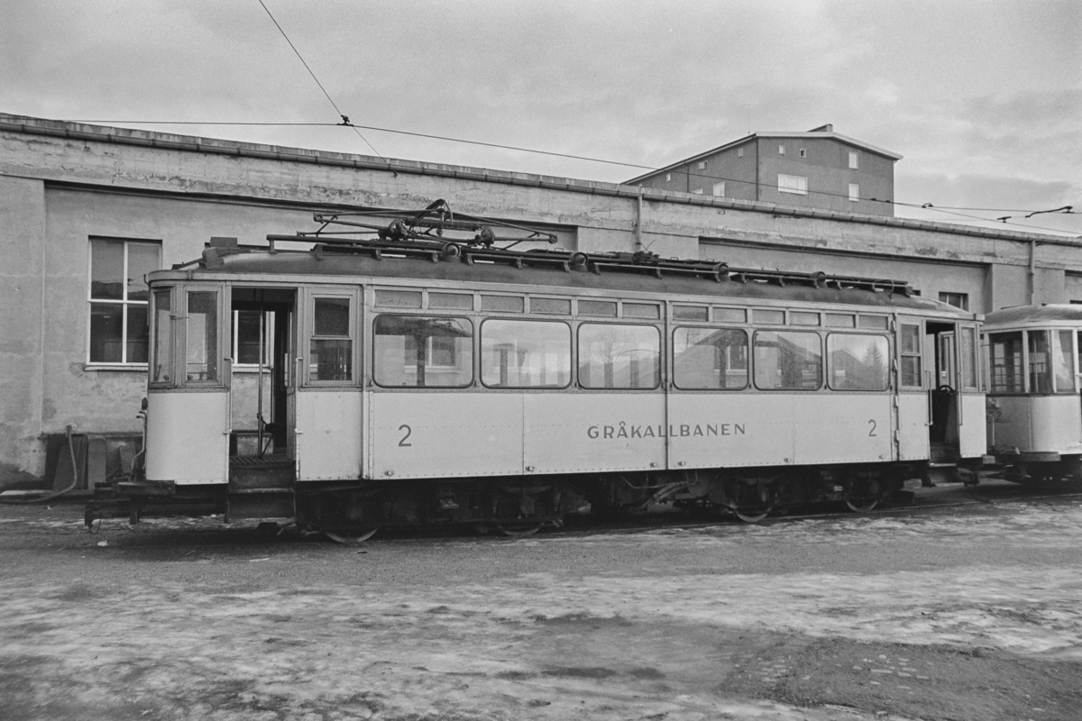 Gråkallbanens sporvogn nr. 2.