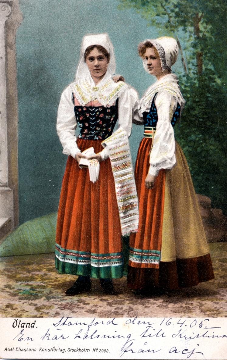 Vykort till Kristina Andersson, född 1865 i Böda, syster till N J Andersson, när hon bodde i USA från vänner i USA.