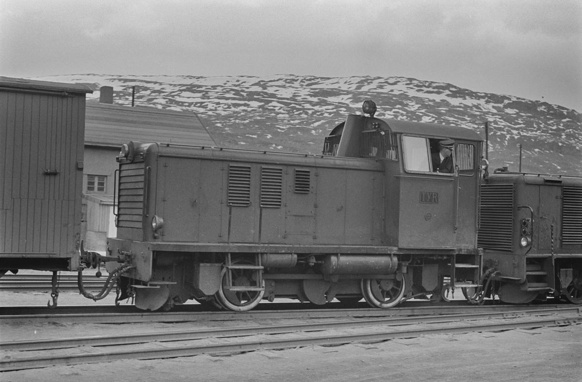 Sulitjelmabanens diesellokomotiv TYR på Lomi.