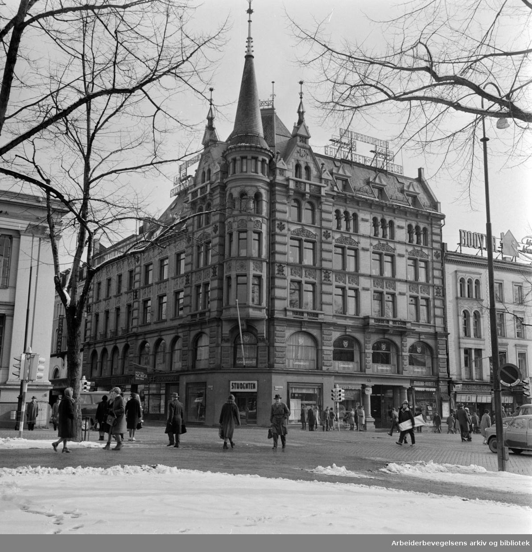 Karl Johans gate 45. April 1963