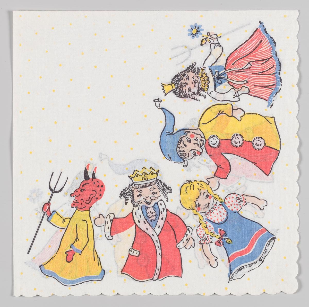 En jævel, en konge, en jente, en hoffnar og en prinsesse på rekke.