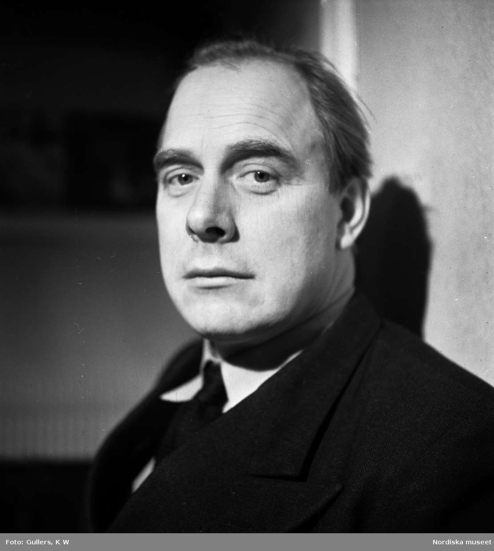 Porträtt av författaren Erik Asklund (1908–1980)