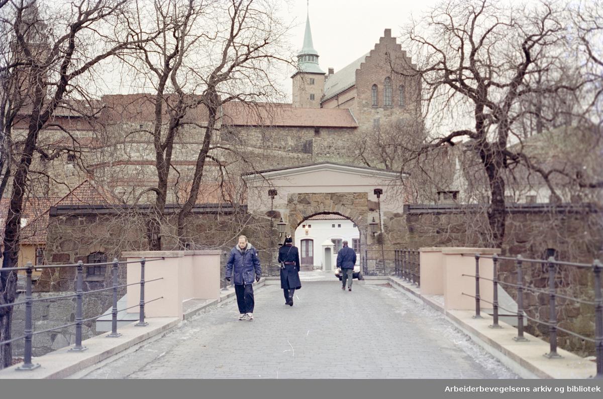 Akershus Festning. Januar 1996
