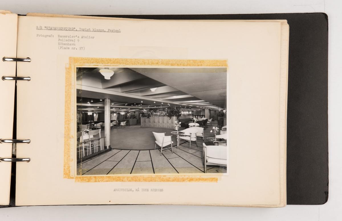 Album med fotografier av D/S 'Stavangerfjord'