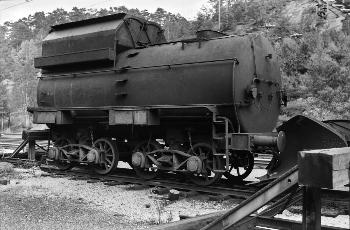 Ttenderen fra damplokomotiv type 49c nr. 470 på Krossen ved Kristiansand.