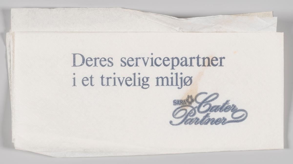 En reklametekst for SARA Cater Partner.  SARA Cater Partner har sitt opphav i Sveriges Allmänna Restaurangbolag, forkortet SARA, som var en statlig svensk hotell- og restaurangkonsern på 1900-tallet. Dette konsernet hadde sin opprinnelse i det Svenske Systembolagets folkerestauranger. Da spritrestriksjonene opphørte i 1955 fikk SARA konkurranse på lik vilkår med den øvrige restaurantbransjen. SARA Catering Partner var en del av de virksomheter som etterhvert ble utviklet innenfor SARA systemet. SARA Catering Partner til Partena Cater som ble kjøpt av franske Sodexho Alliance i 1995.