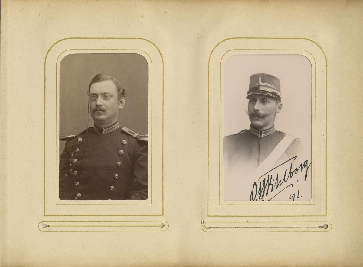 Porträtt av August Dahlgren, officer vid Närkes regemente I 21.