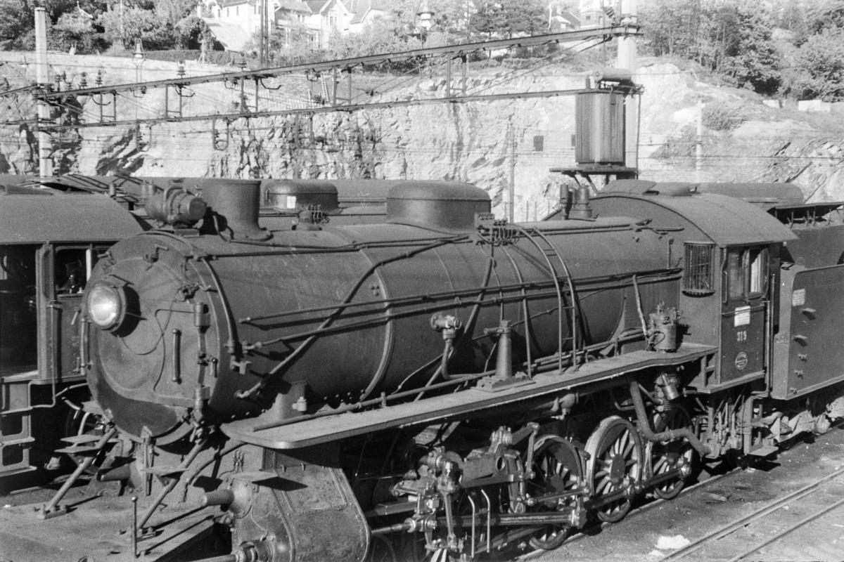 Damplokomotiv type 31a nr. 319 på Bergen stasjon.
