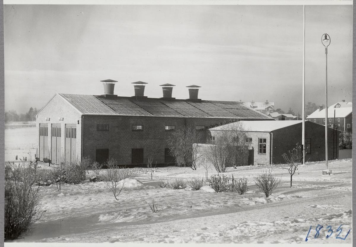 Ljusdals omformarstation i Kläppa efter ombyggnation. Denna skedde efter att stationen förstörts i en brand.