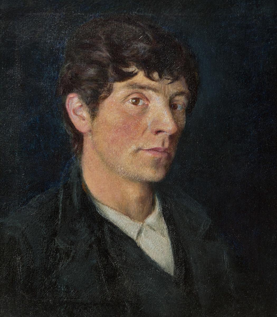 Ungdommelig portrett i halvfigur