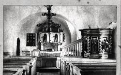 Luttra kyrka 1891, före renoveringen.