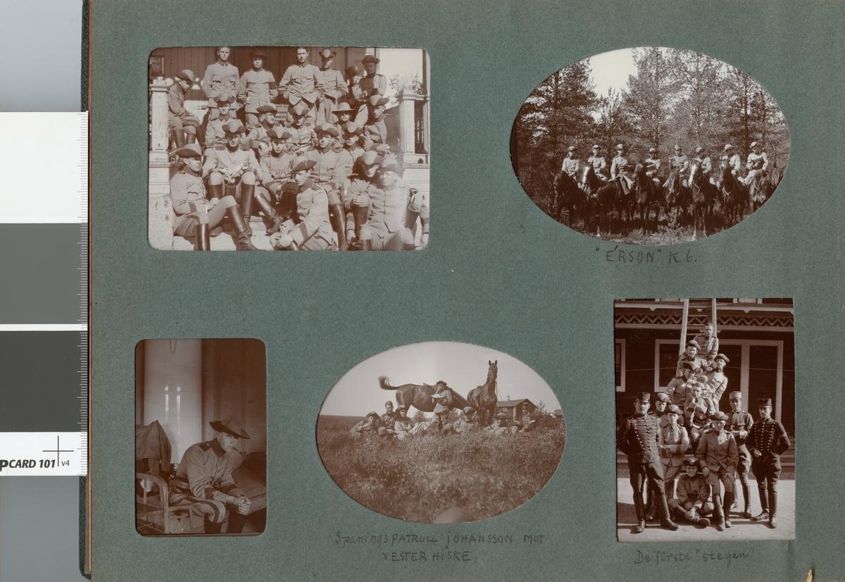 Soldat från Kronprinsens husarregemente K 7 i logementet.