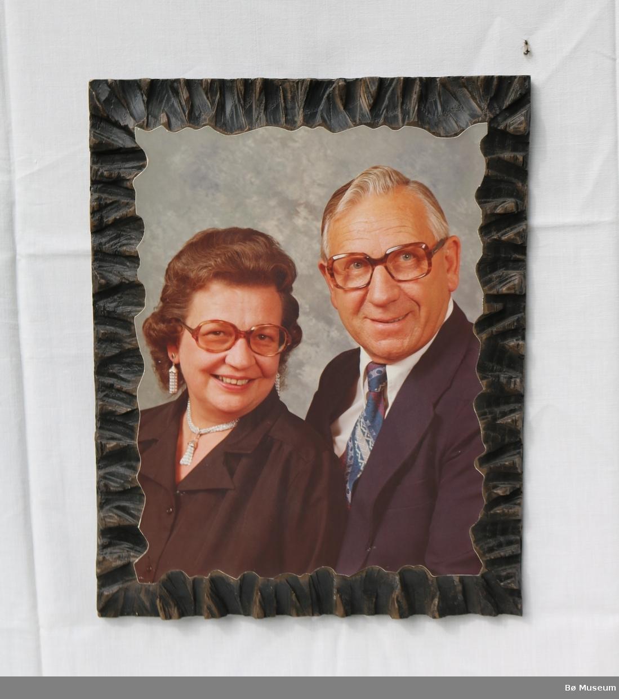 Portrett av felespelar Anund Roheim og kona Anna.
