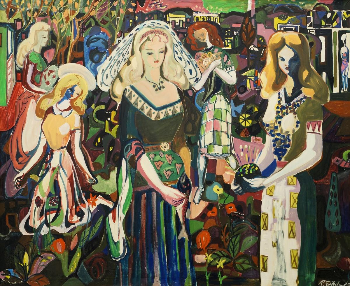 Fem Kvinner [Maleri]