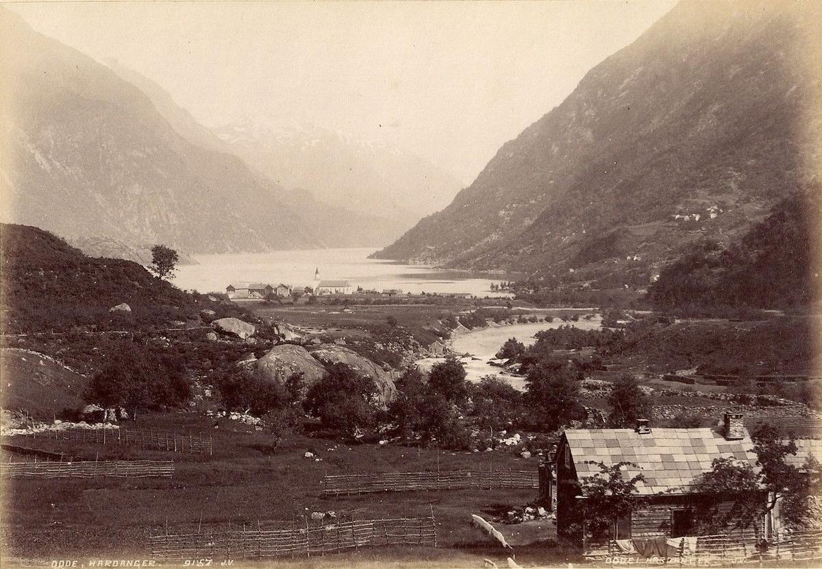 Odda i Hardanger før industriutbyggingen tok til