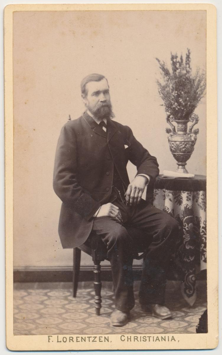 Portrett av en sittende mann.