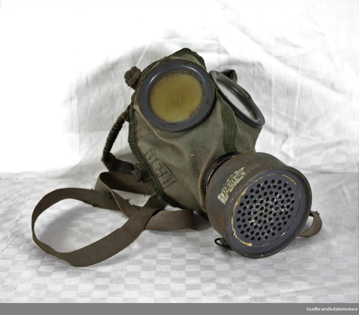 Veske til gassmaske, Gudbrandsdalsmusea AS DigitaltMuseum