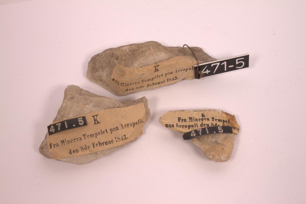 Stenstykker fra Minervatempelet på Akropolis
