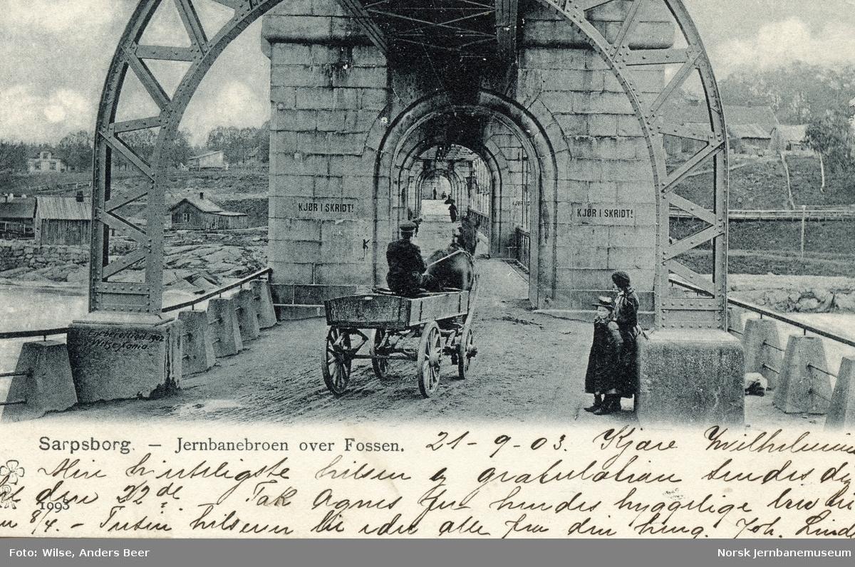 Kombinert vei- og jernbanebru over Sarpsfossen i Sarpsborg