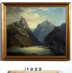 Fjordlandskap [Oljemålning]