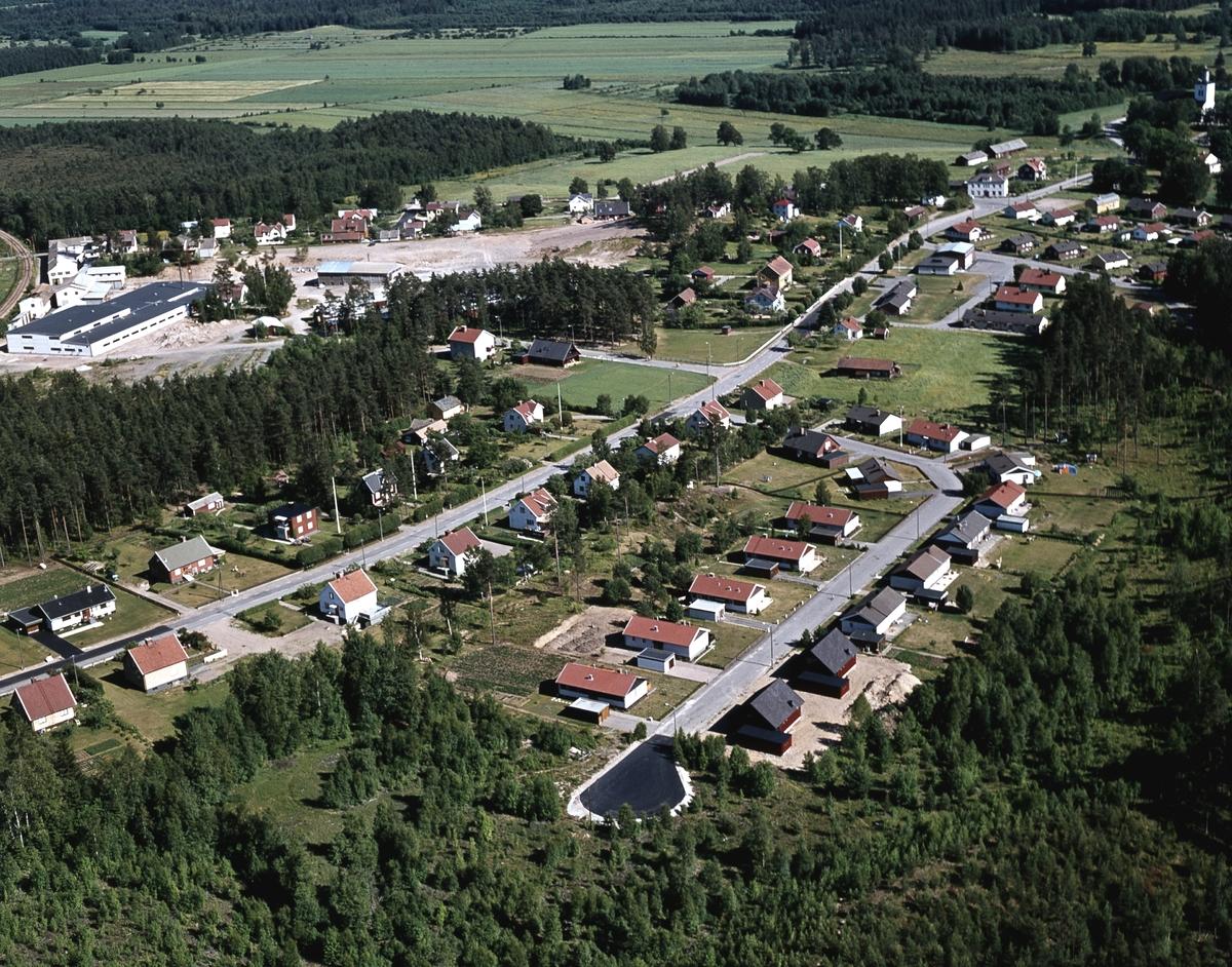 Flygfoto över Björköby i Vetlanda kommun, Jönköpings län 19/1976
