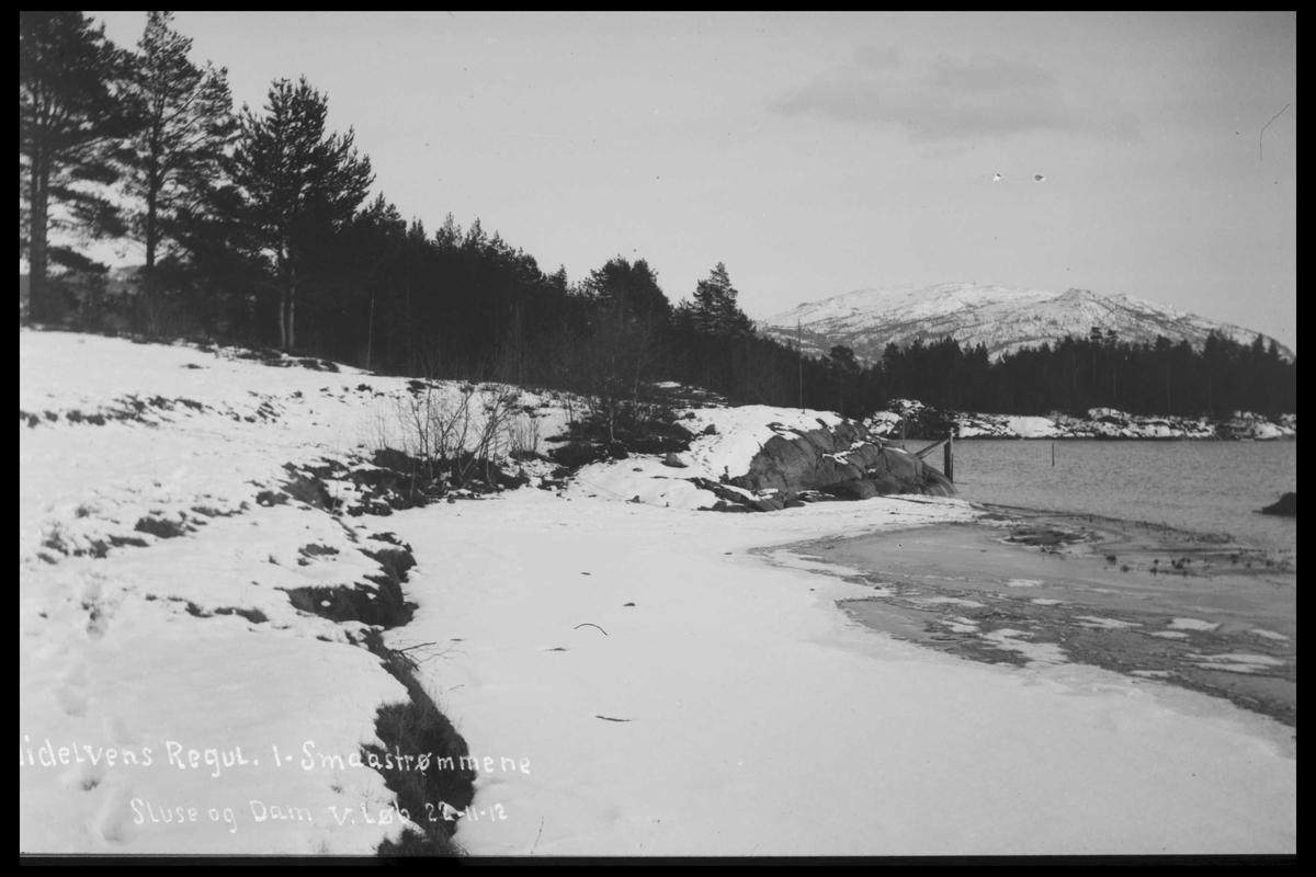 Arendal Fossekompani i begynnelsen av 1900-tallet CD merket 0446, Bilde: 59 Sted: Småstraumene Beskrivelse: Regulering