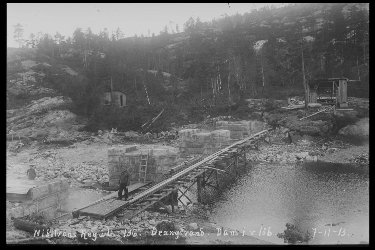Arendal Fossekompani i begynnelsen av 1900-tallet CD merket 0468, Bilde: 98 Sted: Drangsvann dam