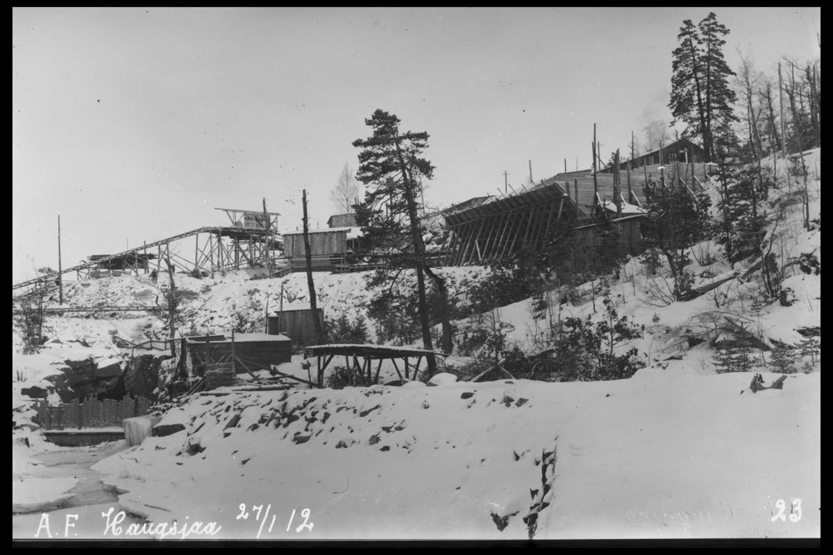 Arendal Fossekompani i begynnelsen av 1900-tallet CD merket 0470, Bilde: 88 Sted: Haugsjå