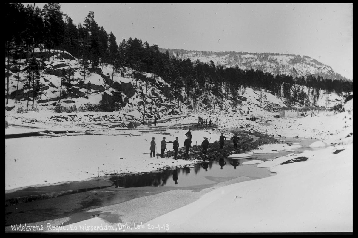 Arendal Fossekompani i begynnelsen av 1900-tallet CD merket 0474, Bilde: 47 Sted: Nisser Beskrivelse: Damanlegg