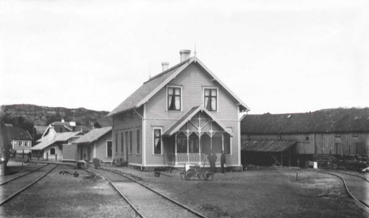 Lillesand - Flaksvandbanen: Lillesand stasjon