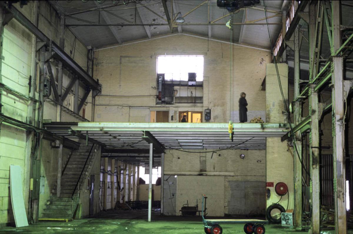 Strømmen Staal under ombygging. Lokalene til museet tar form