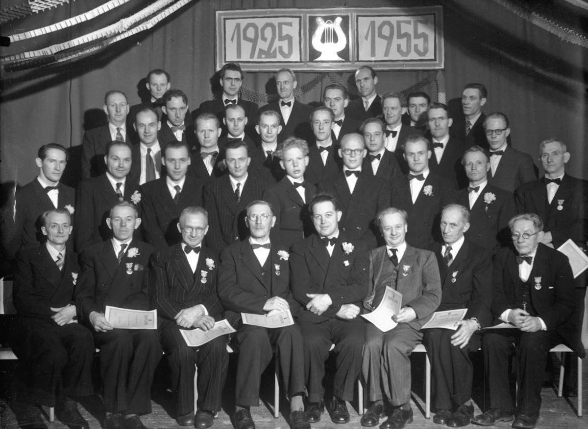 Gruppe musikere. 30-års jubileum.
