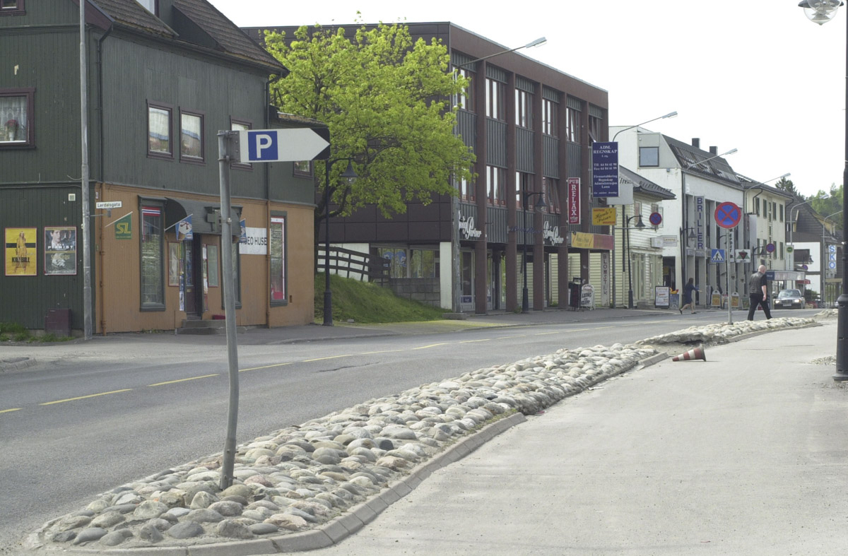 Sneiper langs veien Strømsveien Strømmen