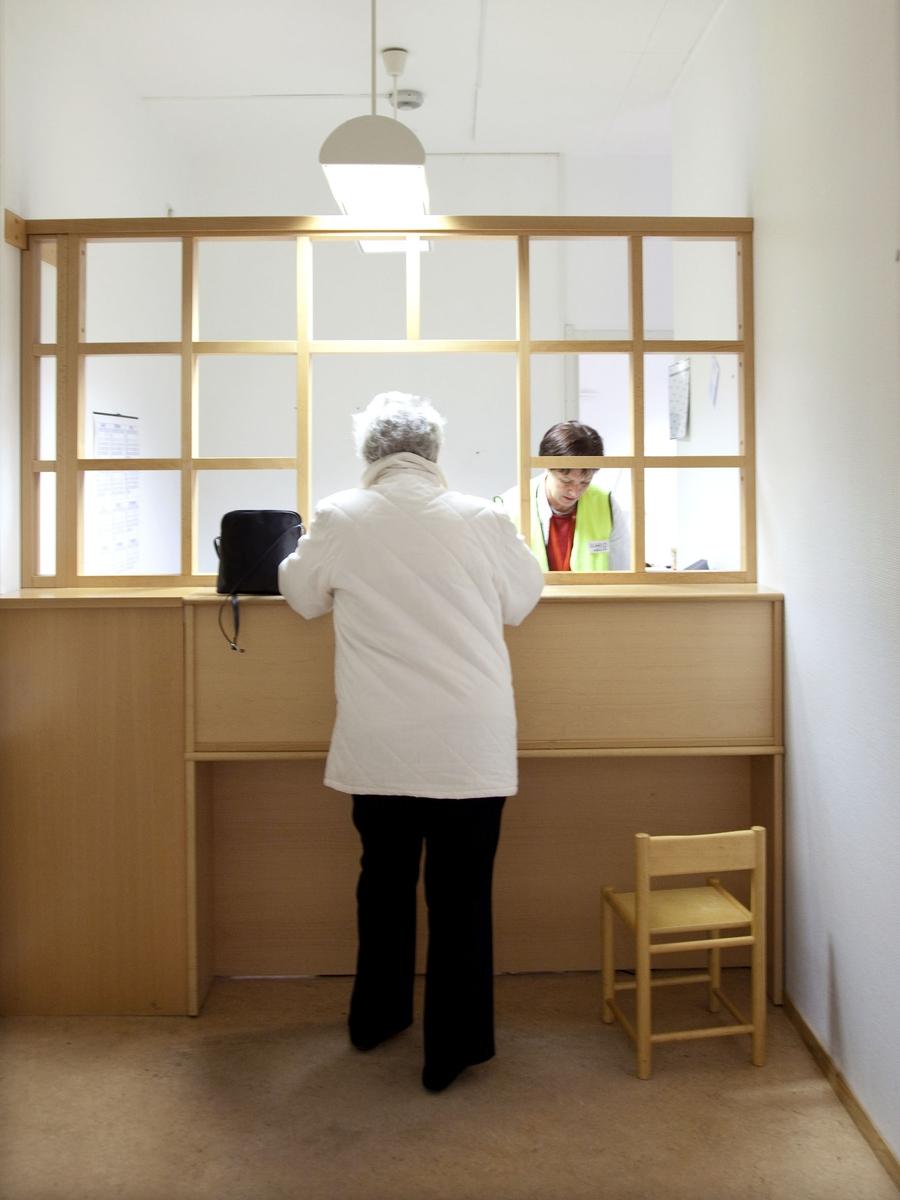 Svineinfluensa. Vaksinasjon mot svineinfluensa på Skedsmo Rådhus den 20.11.09. Område for registrering og betaling.