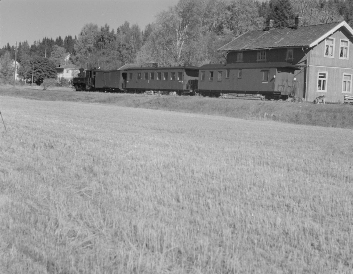 Tog til Sørumsand står på Skulerud stasjon.