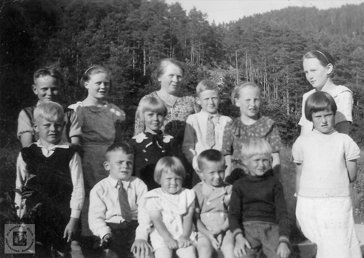 Fødselsdagselskap på Seland i Konsmo.