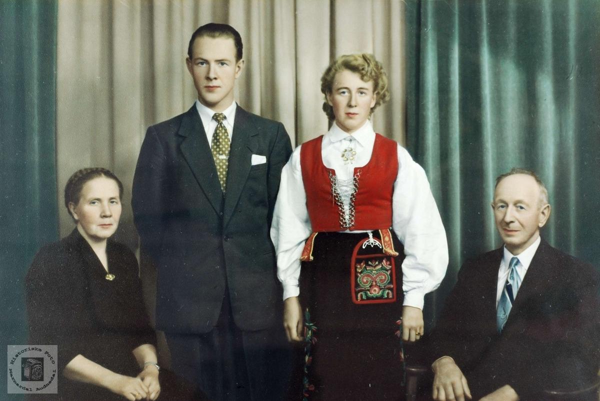 Familiebilde Øydna. Grindheim.