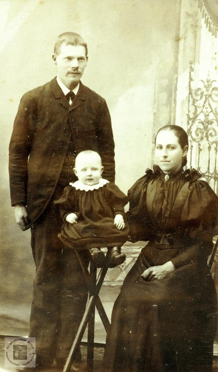 Portrett av familien Seland. Grindheim Audnedal.