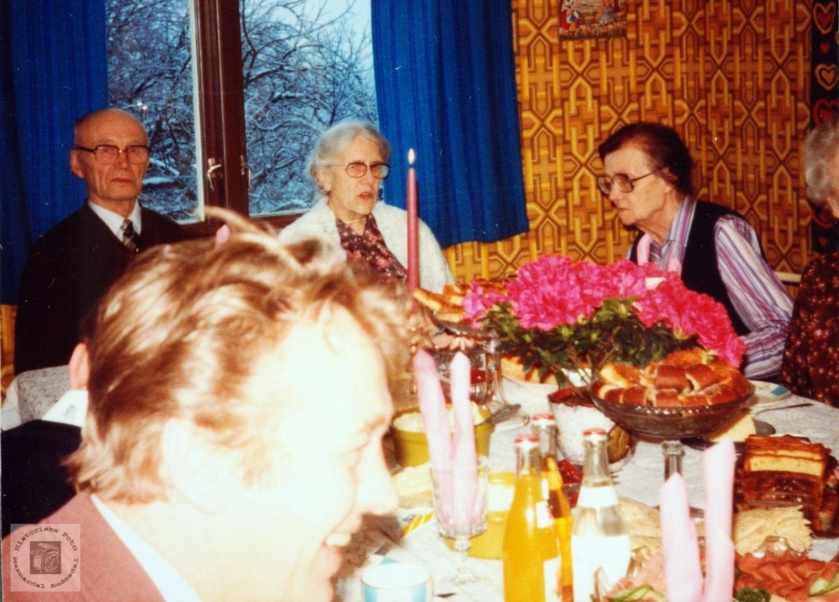 Fødselsdagselskap på Flottorp. Grindheim Audnedal.