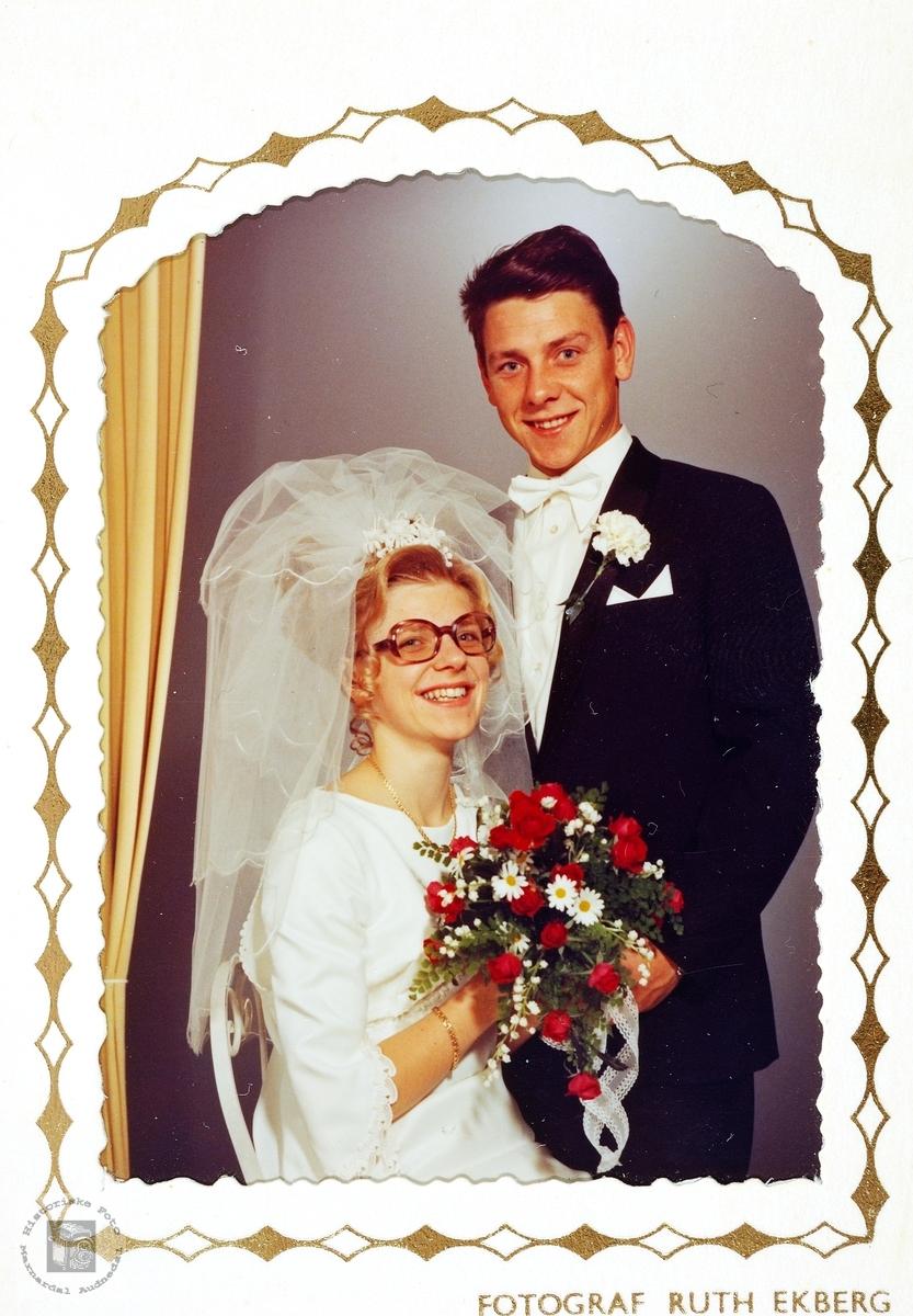Brudebilde av Inger Brit og Kristen Håland. Grindheim.